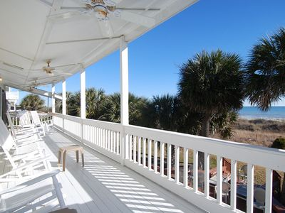 Sip some sweet tea on one of the Southern-style veranda overlooking the ocean!