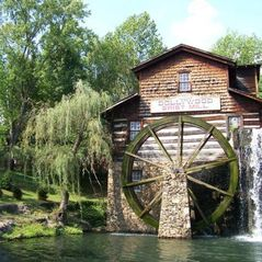 Pigeon Forge cabin photo - Grist Mill in Doolwood theme park