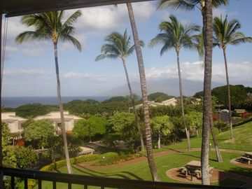 View from the Lanai looking toward the West Maui Mountains