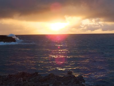 Laie house rental - Sunrise from end of point