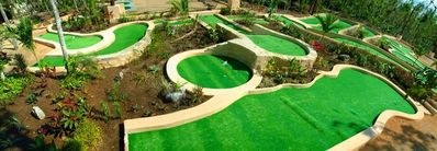 Our 9-hole mini golf course will keep you & your family entertained for hours.