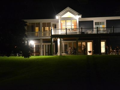 Bayou House at Night