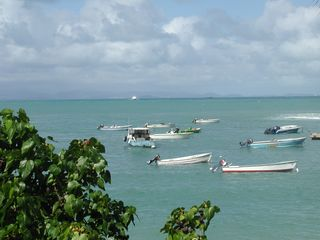 Vieques Island house photo - Fishing boats and ferry in the distance in Isabel Segunda