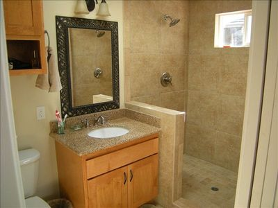Master bath with 4x6 walk in shower, dual shower heads