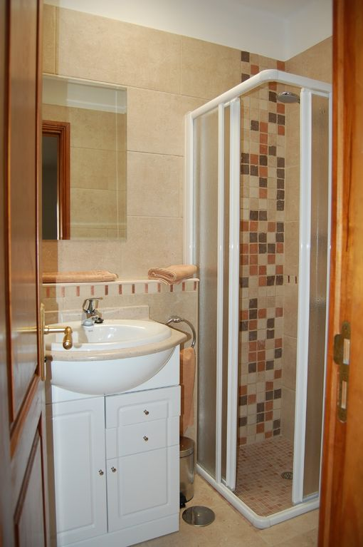En-suite shower room of a 2 bed villa