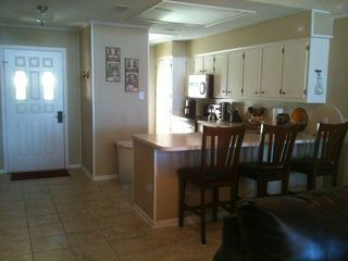 Cedar Creek Lake house photo - Kitchen has new stove and microwave