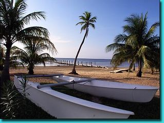Roatan house photo - Beach area is a short 3 minute walk