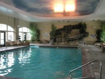 Indoor pool and waterfall jacuzzi.  Outdoor pool and jacuzzi too!