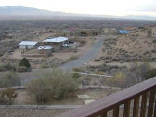 Albuquerque house photo - Deck view of mountains, valley and Houston, our roadrunner in the background