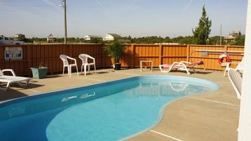 Pool can be heated during pre-season (May or Oct) for an extra fee.