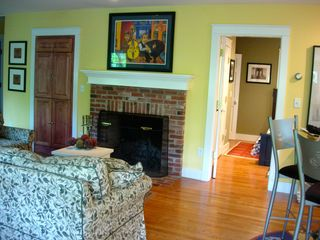 Upstairs Living Room with Wood-burning Fireplace - Ogunquit house vacation rental photo