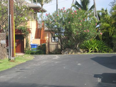 Private beach path entrance just steps from your studio