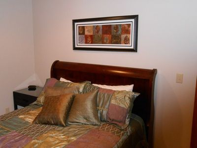 Bedroom...tastefully decorated, queen bed