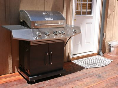 Brand New Nexgrill 4-Burner Propane Gas Grill with Side & Rear Burner