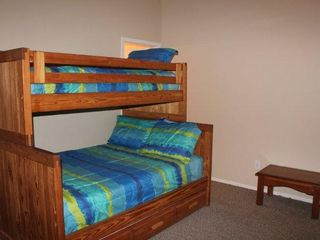Canyon Lake house photo - Upstairs Bedroom has Twin Over Full Bunk Bed with Twin Trundle