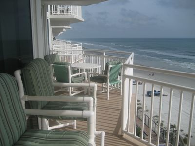 Large direct Ocean view balcony with access from Living room and Master Suite