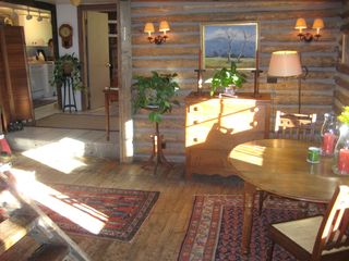Ketchum cabin photo - Main cabin - Dining Area. (Stairs to Loft on left)