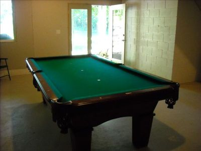 Pool Table in Walkout Basement