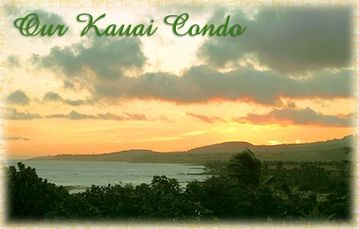 Poipu condo rental - Actual picture taken from the Lanai