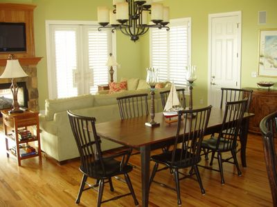 Spacious dining room table for family meals