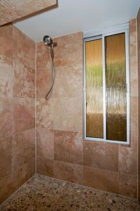 Large, walk in shower