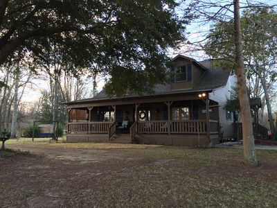 A stunning view of Atchafalaya River from the front porch, situated on 2 acres.