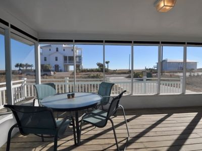 St George Island house rental - wonderful view from screen porch