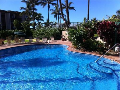 Honokowai condo rental - Enjoy a quiet dip in the all tile pool.
