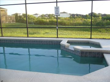 The Shire at West Haven house rental - The morning view looking over the pool and spa towards the conservation area.