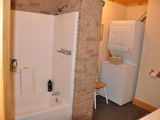 Mount Holly bungalow photo - clean new bathroom off living floor heated floors everywhere with clean laundry.