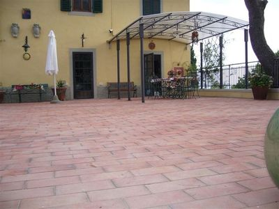 Montespertoli villa rental - MARBLE TABLE & TERRACE SOLARIUM