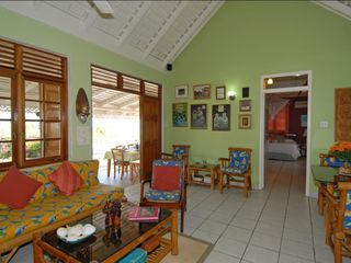 Silver Sands Jamaica villa photo - Living Room looking to Verandah
