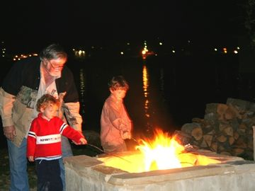 Papa's Big Fire by the Lake