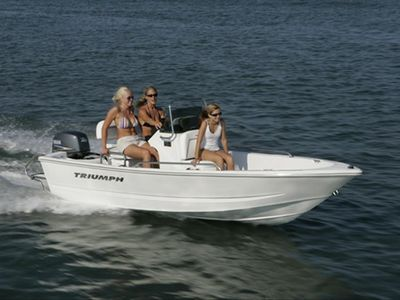 Included 15 foot Triumph boat for fishing, snorkeling, and exploring the islands