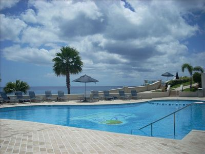 Outdoor Swimming Pool with view of the Caribbean Sea