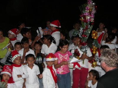 holiday serenade children from Xcalak