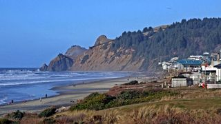 Lincoln City house photo - Roads End in Lincoln City, View of Cascade Head.