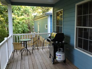 Utica house photo - Gas grill and table on the covered deck allows for grilling in all weather