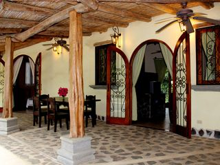 Playa Hermosa house photo - Terrace with cane celings