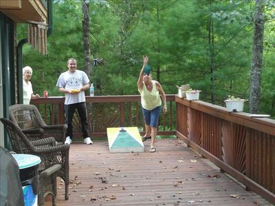 Hang out and play Corn Hole on the deck!