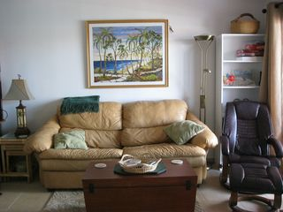 Queen sleeper sofa & comfy Euro recliner - Bimini condo vacation rental photo