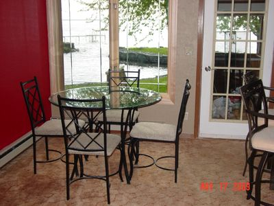 Dining area overlooks Lake Winnebago
