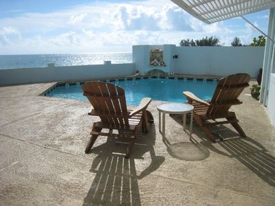 Nassau & Paradise Island house rental - Morning at Water's Edge with that terrific ocean view and private pool