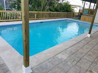 10 min Walk To The Beach- 2 Master Suites- Spacious 5 Bdrm Waterfront Pool Home