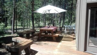 Sunriver house photo - large deck.