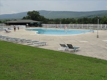 One of 2 outdoor pools