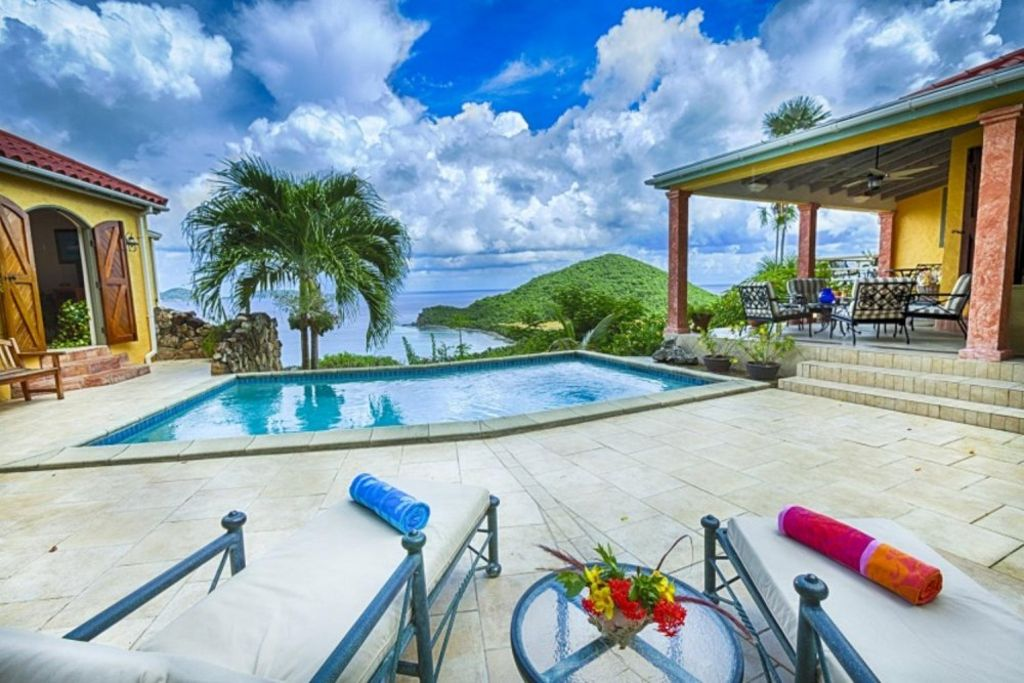 Villa per 8 persone a tortola 3909124 for Piani di casa in stile west indian