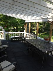 Bushkill house photo - Upper patio