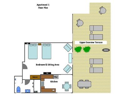 Bonaire apartment rental - The 2nd floor apartment layout