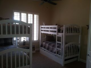 Scottsdale house photo - Two sets of bunks,additional trundle below. Sleeps 5..children only please.